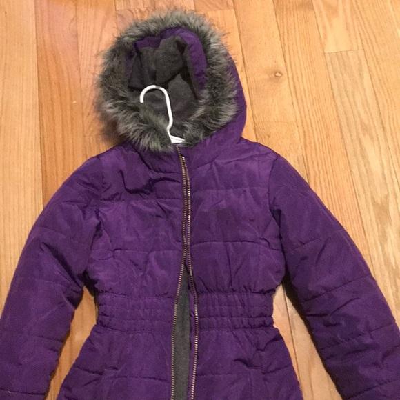 c64493f54 Purple Calvin Klein girls Coat